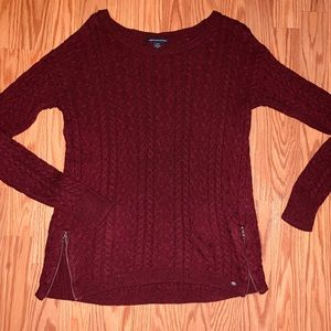 Cable Knit American Eagle Sweater